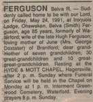 Ferguson, Belva R.