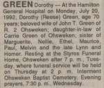 Green, Dorothy