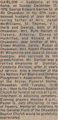 Garlow, George Edward Sr.