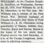 Williams, Fred Sr.