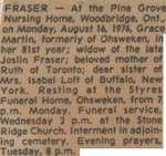 Fraser, Grace