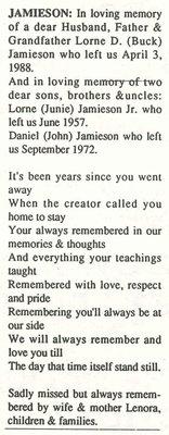 Jamieson, Lorne Jr. (Junie)