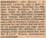 Bomberry, John Wesley