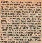 Lucas, Saucha Sue Murriel