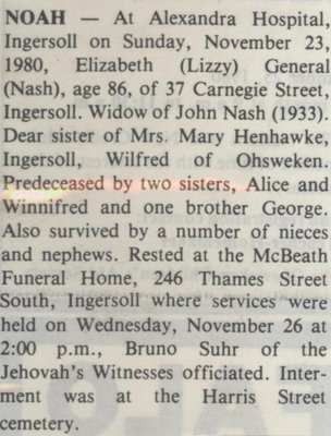 Noah, Elizabeth (Lizzy)