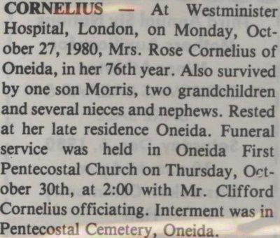 Cornelius, Rose
