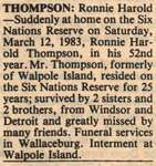 Thompson, Ronnie Harold