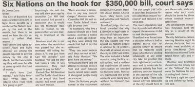 """""""Six Nations on the Hook for $350,000 Bill, Court Says"""""""