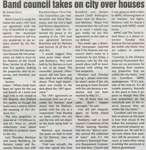 """Band Council Takes on City Over Houses"