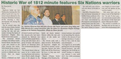 """Historic War of 1812 Minute Features Six Nations Warriors"""