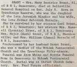 Brant, Mary Beatrice