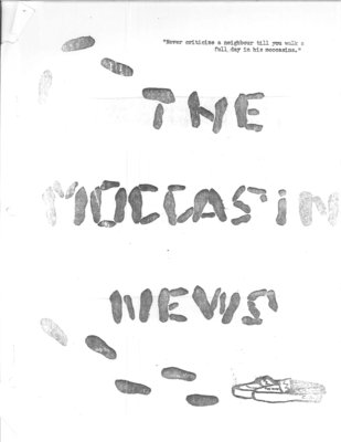 The Moccasin News - Vol.II No.I - February 15, 1969