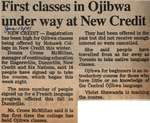 """First Classes in Ojibwa Under Way at New Credit"""