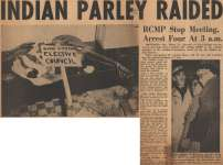 """Indian Parley Raided"""