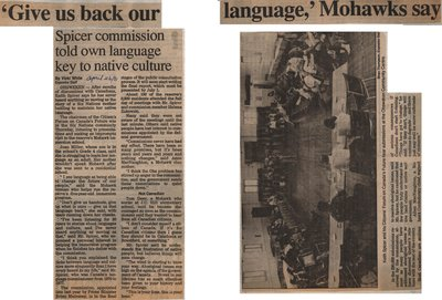 """""""'Give Us Back Our Language,' Mohawks Say"""""""