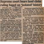 """Supreme Court Hears Land Claim Ruling Based on 'Isolated' History"""