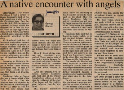 """""""A native encounter with angels"""""""