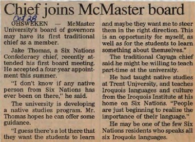 """Chief joins McMaster board"""