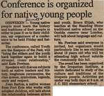 """Conference is Organized for Native Young People"""