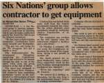 """Six Nations' group allows contractor to get equipment"""