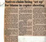 """""""Natives claim being 'set up' for blame in copter shooting"""""""