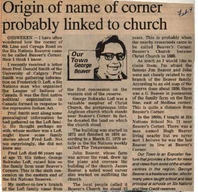"""""""Origin of name of corner probably linked to church"""""""
