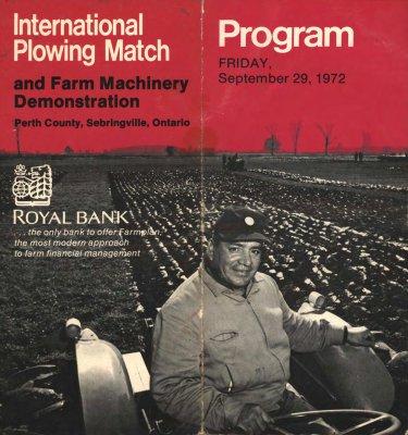 """International Plowing Match and Farm Machinery Demonstration - Program"""