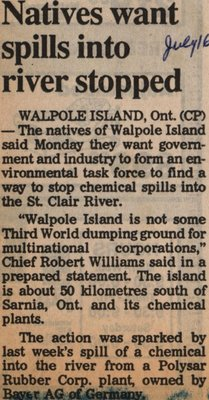 """Natives Want Spills into River Stopped"""