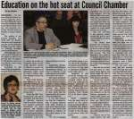 """""""Education on the hot seat at Council Chamber"""""""
