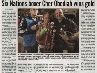 """""""Six Nations boxer Cher Obediah wins gold"""""""
