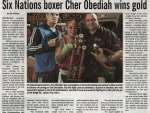 """Six Nations boxer Cher Obediah wins gold"""