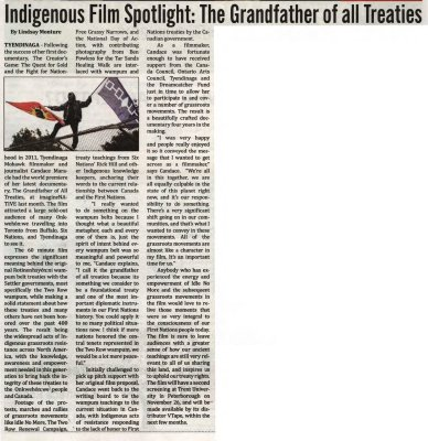 """""""Indigenous Film Spotlight: The Grandfather of all Treaties"""""""