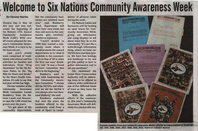"""""""Welcome to Six Nations Community Awareness Week"""""""