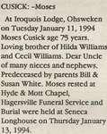 Cusick, Moses