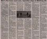 """Men's Fire loses court case, injunction stays on McClung site"""