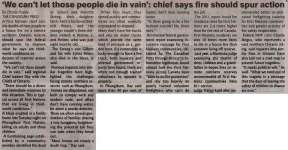 """'We can't let those people die in vain': chief says fire should spur action"""