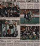 """Arrows celebrate with fans second straight Minto Cup"""