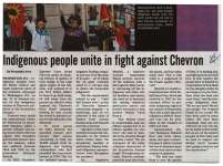 """Indigenous people unite in fight against Chevron"""
