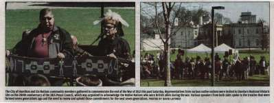 """The City of Hamilton and Six Nations community members gathered to commemorate the end of the War of 1812."""