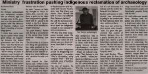 """Ministry frustration pushing indigenous reclamation of archaeology"""