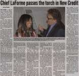 """Chief LaForme passes the torch in New Credit"""