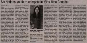 """Six Nations youth to compete in Miss Teen Canada"""