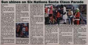 """""""Sun shines on Six Nations Santa Claus Parade"""""""