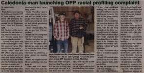"""Caledonia man launching OPP racial profiling complaint"""