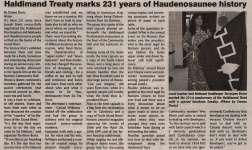 """Haldimand Treaty marks 231 years of Haudenosaunee history"""