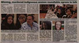 """""""Missing, Murdered Indigeouns Women Roundtable Agrees to Talk but National Inquiry is a Non-Starter Minister Valcourt Says"""""""