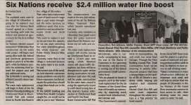 """Six Nations receive $2.4 Million water line boost"""