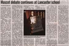"""Mascot debate continues at Lancaster school"""