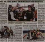 """""""Pan Am flame arrives amid stormy weather to Toronto"""""""
