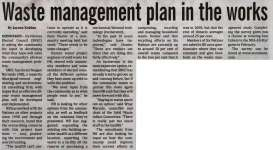 """Waste management plan in the works"""
